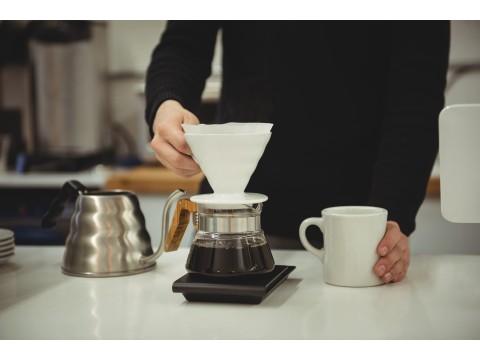 Как заваривать кофе в воронке